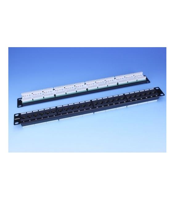 "Патч-панель 19"" 24xRJ-45 UTP, кат. 6, dual type, EPNew"