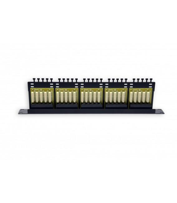 Патч-панель 50 портов, 1U, ISDN, черная