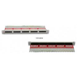 "Premium Line Патч-панель телефонная ISDN 25п Кат3 90° RJ-45 Dual IDC 19"" 1U"