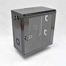 Серверный шкаф настенный 12U, 600x350x640 мм, черный