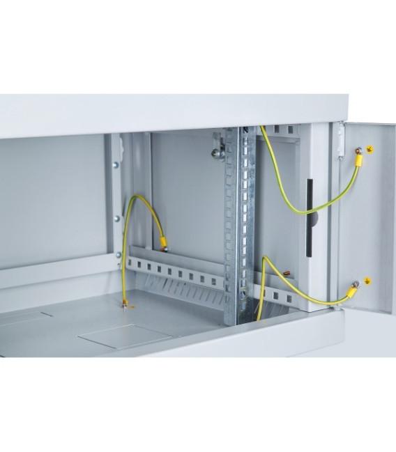 Шкаф настенный 6U 600x600 Дверь перфорация