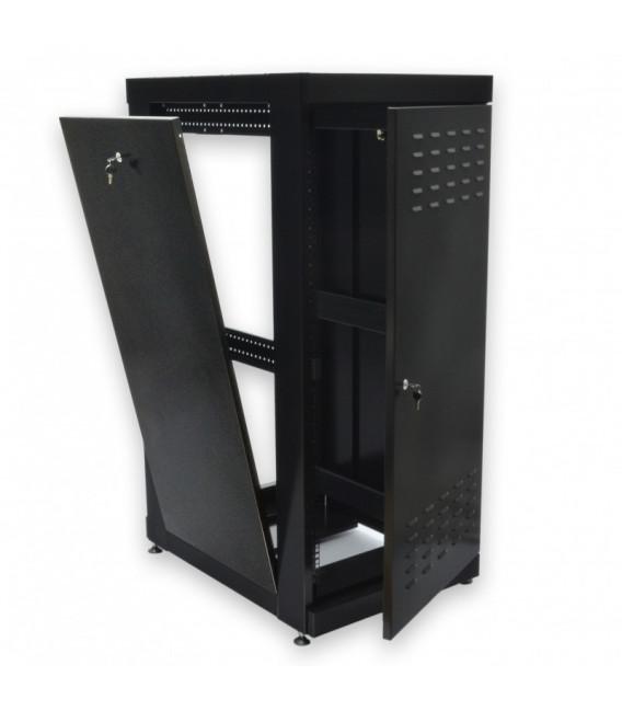 CMS Шкаф напольный 24U, 610х865 мм, усиленный, чёрный