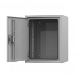 Подробнее оIP54-9U 650х500х547 антивандальный уличный шкаф