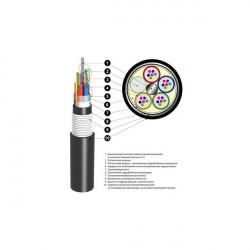Кабель оптический ОБгПО 1,5кН 8 волокон с жилами питания ОБгПо-8А4(2х4+2)-1,5