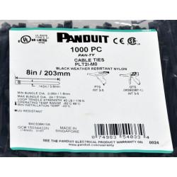 Стяжки Panduit 203x3.6 мм, черная, weather resistant, 1000 шт