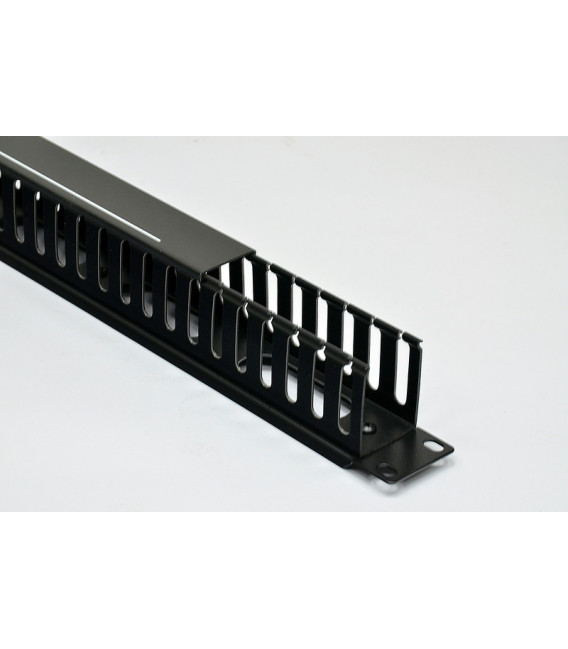 Кабельный организатор 1U с крышкой, черный, EPNew