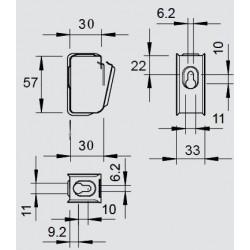 Хомут потолочный 30х55 мм оцинкованный
