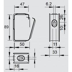 Хомут потолочный 50х85 мм оцинкованный