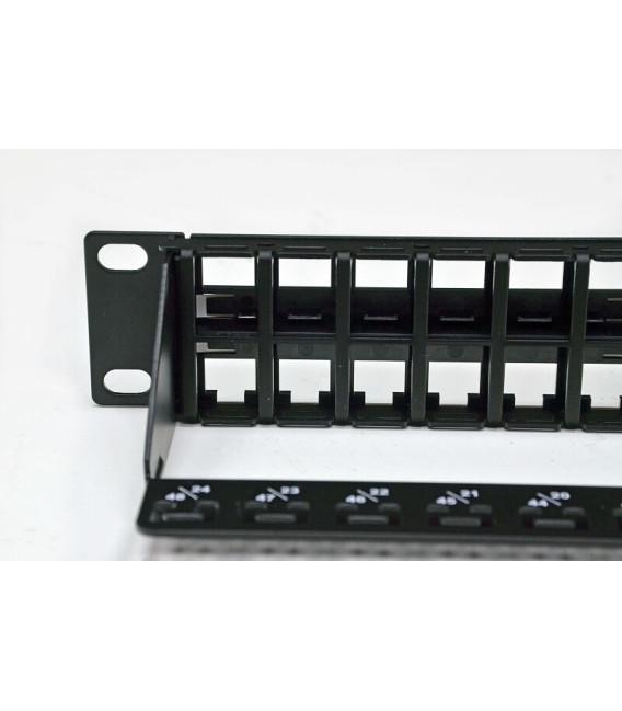 PLKP-48BK1URMZ EPNew Патч-панель под 48 мод. Keystone, 1U