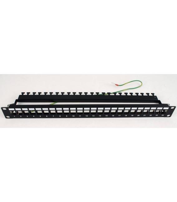 PLKDC-24BKRMZ Патч-панель под 24 модуля Keystone, 1U, с задним организатором EPNew