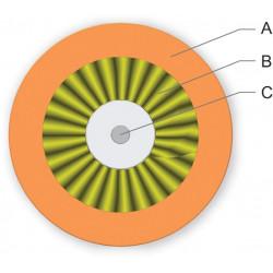 Мультимод патчкордовый волоконно-оптический кабель 001K3Z-32108E2G