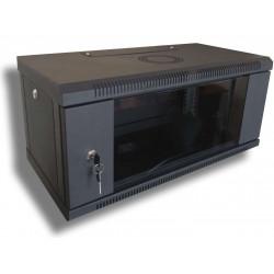WMNC-30-4U-FLAT-BLACK Шкаф телекоммуникационный настенный 4U 600x300 разборной Hypernet
