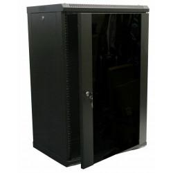 Серверный шкаф настенный 18U 600x450 металл/стекло разборной