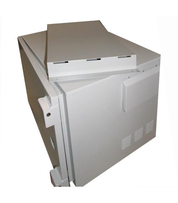 12U Шкаф уличный, антивандальный с креплением на столб