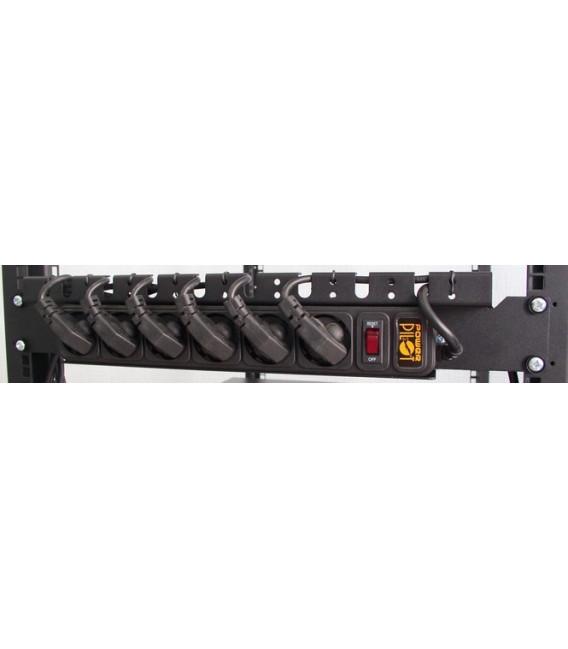 Сетевой фильтр 6 розеток 1,5U с организатором кабелей питания