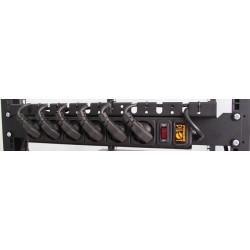 """Подробнее оБлок розеток 1,5U 19"""" на 6 розеток с выкл. PDU 220В, 10А, 3м, Schuko CSV-6-10-3 ,БР-CSV-6-10-3"""