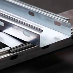 100/80 мм Лоток кабельный  производство Украина сплошной оцинкованный, длина 3 метра, дешевый и качественный кабельный лоток