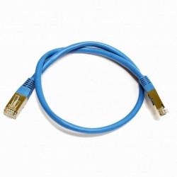 Патч-корд голубой 1м медный FTP кат5e