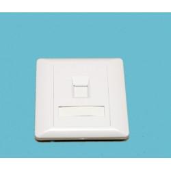 Рамка 86х86 под один модуль KeyStone,со шторкой