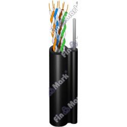 Витая пара кабель FinMark UTP кат 5е, РЕ, самонесущий черный, 305м